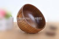 2pcs/lot wooden bowl eco-friendly wood rice bowl child bowl 9.5*6.5cm 51797