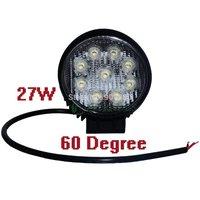 """2 PCS 4 """"27 w white 24vdc 12v 6000k leadership found flood lighting work light truck trailer 60 degrees IP67 ZITRADES spotlights"""