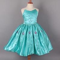 2014 Frozen Kids Vestido Elsa Dress High Quality Frozen Party Dresses Frozen Party Dress Vestidos De Menina For 2-8ages 6pcs/Lot