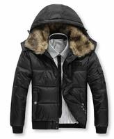 Men down coat Men's coat Winter overcoat Outwear Winter jacket hooded thick fur jackets outdoors Free shipping