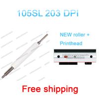105SL 203dpi Zebra printhead and zebra 105SL new  roller 100% new Three months warranty free shipping 105SL print head