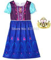 Pre-SaleNew Summer Dress 2014 Frozen Night gown pijama infantil Princess Anna Pajamas Night Gown Frozen pyjamas