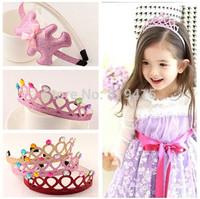 Flower Limited New Arrival Frozen Elsa Crown Children Headband Populer Gift for Girls 2014 Kids Costume Dress Accessories Retail