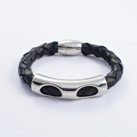 Trendy bracelets   men's  simple Leather bangle High-grade bangle jewelry
