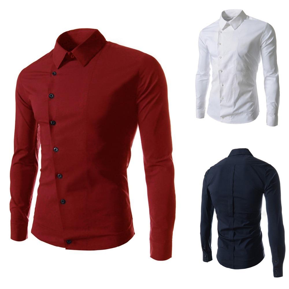 Shirt design new 2014 - 2014 New Dress Fashion Quality Formal Casual Male Dress Shirt Long Sleeve Shirt Men Korean Slim Design