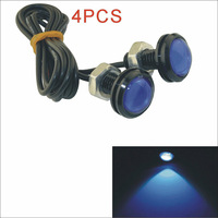 Hot New Kapeie 12V 1.5W 23MM car styling LED angel eyes DayTime Running Light Reverse Lamp Bulb-Silver 4PCS Free shipping