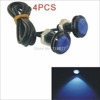 Hot New Kapeie 12V 1.5W 23MM car styling LED angel eyes DayTime Running Light Reverse Lamp Bulb-Silver 4PCS Free shipping