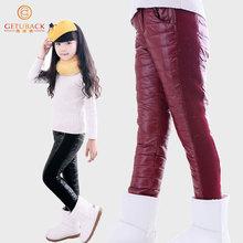 2014 nuevas niñas a prueba de viento pantalones de invierno pato blanco abajo espesar pantalones del cabrito abajo acolchada muchachos de diseño y pantalones de las muchachas al por menor , C274(China (Mainland))