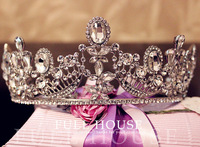 Fashion Bride Wedding Crown Bridal Accessories Rhinestone Audrey Hepburn Princess Vintage Tiara Crown