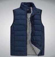 Winter Men's Casual Sleeveless Vest Fashion Top Quality Men's Down vest Cotton Outerwear Men's jacket