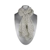 Free Shipping Very Nice Fashion Faux Silk Scarf, Fashion White Bones Scarf, Silk Touch, Warm Scarf, 3 Pcs/Lot