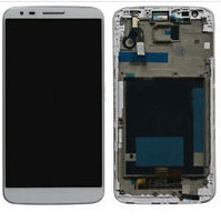 Free shipping ems dhl  For LG Optimus G Pro ls980 white original oem Touch screen Digitizer with frame Assembly