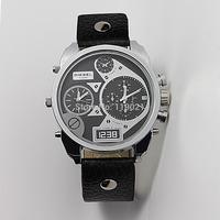 dieseler mens watches top brand luxury leather oversized zone fashion sport watches for men DZ cheap watch Wristwatch