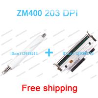 Zebra zm400 printhead and zebra zm400 new  roller 203dpi 100% new printer parts Three months warranty free shipping zebra 79800M