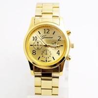 Luxury GENEVA Wholesale women men wristwatches ladies fashion Analog quartz watch men Women dress watches SQW150