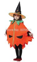 Kid's halloween costumes pumpkin designer girls' clothings glove or hat accessories