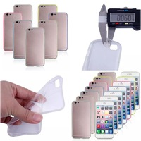 100pcs/lot Soft Transparent ultrathin back case for iphone 6 6g free shipping by Hk post