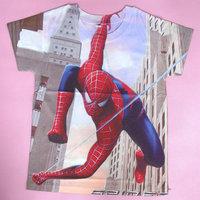Wholesale Spiderman Shirt Cartoon Children New Baby Boys Brand Children Tops Tees Wear Short Sleeve Clothes 90-130cm 5pcs/lot