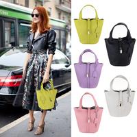 free shipping 2014 H brand designer handbag embossed leather bucket bag Shoulder Messenger Bag Accessories