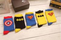 Unique Super American Heroes 100% Cotton Socks Men's Socks Film Personage Creative Socks xx1