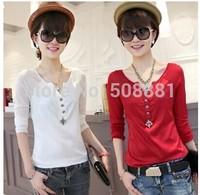 2014 new autumn long sleeve blouse for women cute vintage faux silk casual plus size woman shirt top blusas femininas S~XXL
