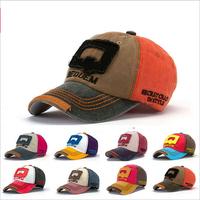 2014 explosion models  Q letters hip-hop hat brim Gapi  Retro spell color baseball cap
