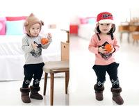 2014 autumn models of child cotton lion suit children's clothing wholesale children's wear boy pants suit