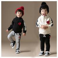 2014 Autumn stylish children's clothing children's cotton suit pants suit children's clothing wholesale