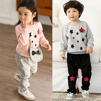 2014 Autumn stylish children's clothing wholesale children's clothing boys and girls of child stars suit pants suit
