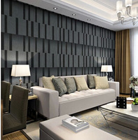Hight quality simple 3D fringe the television background wallpaper black non-woven wallpaper the living room bedroom  minimalist