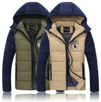 New arrival warm men winter jacket casual slim men's winter jacket