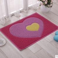 Heart and Cartoon Design Floor Mat Bath Rug Area Rug Door Way Mat Anti-slip Doormat/ Floor Rug