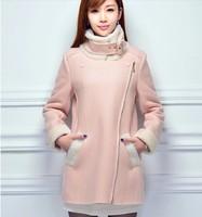 Woolen coat 2014 winter new Korean Women Slim woolen coat long paragraph counter genuine  NDX131  Y9W