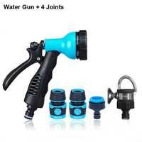 ABS Plastic High Pressure Water Gun 6 Spray Patterns Garden Watering Irrigation Car Washing Water Gun With 4 Joints G203 Sets
