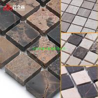 Cloud is stone Mosaic of ash wood grain brown mashup bathroom toilet metope brick Spot supply