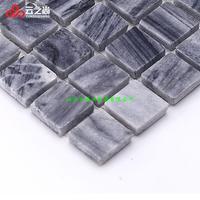 Cloud ShangTianRan stone Mosaic marble dark grey kitchen stone Mosaic of various size wholesale