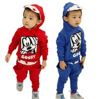 2014 Autumn stylish children's clothing wholesale goofy children's clothing child sports suit pants suit