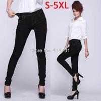 XXXXXL Plus Size Jeans for Women 2015 New Fashion Spring Korean Stretch Pants High Elastic Designer Skinny Denim Trousers Long