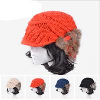 2014 Hot Korean hair style knit cap  Ladies fashion winter warm hat forward  women's hat