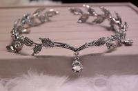 2014 Latest Vintage Bride Hair Accessory Wedding Rhinestone Waterdrop Pendent Leaf Hair Accessory Head Jewelry Headband