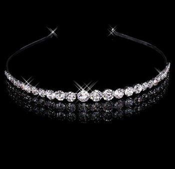 2014 новый прозрачные кристаллы горный хрусталь W свадебные диадема повязка на голову ...