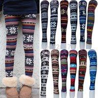 2014 Women Printed Leggings Colorful Snowflake Christmas Deer Graffiti Legging Cashmere Knitted Slim Leggings Jeggings