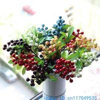 10 PCS Beautiful Artificial Bush Berry Bouquet Silk Flowers Home Decoration F176