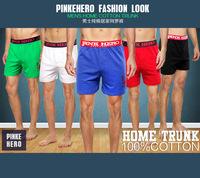 New 2014 Mens Underwears  Wholesale 12 PCS Fashion Sexy Boxers Men Underwear 100% Cotton Cartoon Printing Shorts Swim Surf
