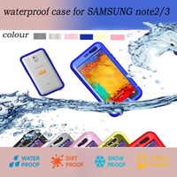 Waterproof Case For Samsung Galaxy Note2 Note3 Cover Shockproof Dirt Proof Protective Upgrade Touch Screen Underwater Take Photo