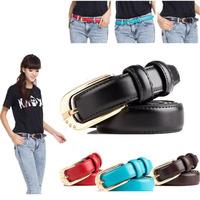 New 2014 Fashion Women Belt Brand Designer Hot Ladies Faux Leather Metal Buckle Straps Girls Fashion Accessories