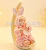 Ceramic Hand Crank Music Box 18 Tones Moon Doll Baby Caixa de Musica Free Shipping
