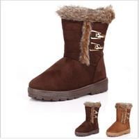 2014 The new winter snow boots belt buckle warm snow shoes high-grade women boots xx275