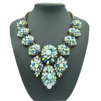 2014 Hot Fashion Brand Acrylic Necklaces & Pendants Chunky Choker Jewelry Statement Bib Exaggerated Pendans Necklace Chain Women