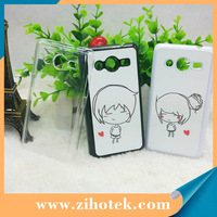 Free shipping ZIHOTEK new blank sublimation cover cases for Samsung galaxy core 2 (G3558) 100pcs/lot by DHL